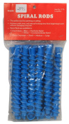 Spiral Perm Rods Long Blue
