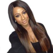 FOND Brazilian Virgin Human Hair Wig Lace Front Wigs for Black Women Two Tone Highlight Hair