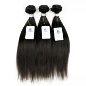 KISS HAIR Brazilian Hair Bundles Silky Straight 8A Unprocessed Virgin Human Hair Weave Natural Brown Colour Mix Length