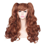 ColorGround Long Curly Lolita Cosplay Wig with 2 Ponytails