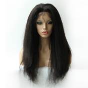 Qingdao Ocean Star Kinky Straight 2# Darkest Brown Lace Human Hair with baby hairWigs For Black Women Front Lace Wig