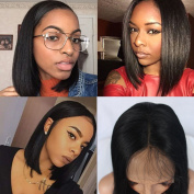 Oxeely High Density Bob Synthetic Lace Front Wig with Baby Hair Heat Resistant Wig for Women
