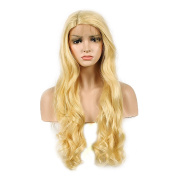 WigTech2017 200%Density Synthetic L Part Lace Front New Body Wave 60cm 613# Colour Heat Resistant Fibre Wigs With Baby Hairs For All Skin Tones Women