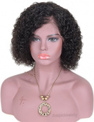 Auspiciouswig Curly Brazilian Hair Lace Front Wigs Short Full Lace Human Hair Wigs for Black Women