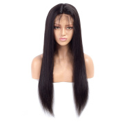 Nobel Hair Full Lace Wigs for Black Women with Baby Hair Straight Brazilian Virgin Human Hair Wigs Preplucked Hairline Glueless Lace Wigs 30cm