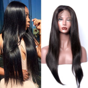 GEM Beauty Human Hair Lace Front Wig Brazilian Straight Human Hair Half Lace Wig 130% Density with Baby Hair Brazilian Virgin Hair Straight Wig (25cm