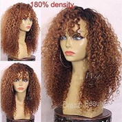 Human Hair Wigs 180% Density Ombre Kinky Curly Wig Glueless Full Lace Wigs Lace Front Wigs For Black Women