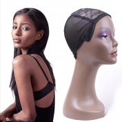 Gabrielle Hair Series Black Adustable Straps Wig Cap For Making Wigs Black Stretch Weaving Cap One Piece
