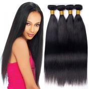 4 Bundles Peruvian Virgin Hair Straight Wave 100% Raw Unprocessed Human Hair Extension Machine Double Weft Peruvian Virgin Hair Silky Straight