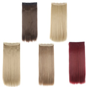 FRISTLIKE 70cm Long Straight 3/4 Full Head Clip in Hair Extensions 5 Clips One Piece Hight Quality Hair