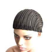 Fashion Lady Hair 3Pcs/Lot Cornrows Cap For Easier Sew In,Braided Wig Black Colour Braiding Wig Cap Weaving Cap With Braids
