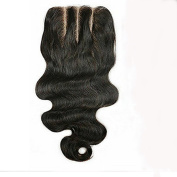 3 Part Wavy Lace Frontal Closure 4x 4 Boby Brazilian Remy Human Hair Closure Piece With Baby Hair