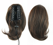 Mangadua Claw Clip Short Ponytail Extension Synthetic Clip in Ponytail Hairpiece Jaw Clip Hair Extension