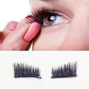 Magnetic Eyelashes, Hometom 4pcs Magnetic Eye Lashes 3D Reusable False Magnet Eyelashes Extension