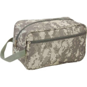 28cm Green Camo Travel Water Resistant Toiletries Bag Mens Toiletry Shave Kit