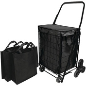 HELPING HAND FQ39908BK Stair Climb Cart with Liner & 2 Bags