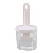DealMux Plastic Kitchen BBQ Barbecue Sauce Oil Honey Baking Bottle Brush Set Tool White