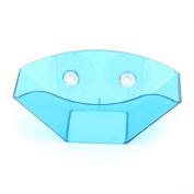 DealMux Plastic Kitchen Family Suction Cup Sponge Soap Draining Rack Sink Holder Blue