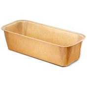 Paper Bakeware Loaf Pan,bake your Loafs Cakes, Banana Cake, Seed Bread. Anything you wish to bake in a rectangular shape Size L 16cm x W 5.6cm x H 5.1cm Model 8015550G