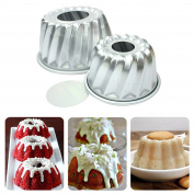 4pcs Aluminium Alloy Mini Savarin Cake Pan Cakes Bundtpan Diy Baking Tools Mould Tool Home Kitchen Supplies