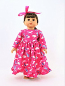Hotpink Unicorn Night Gown| Fits 46cm American Girl Dolls, Madame Alexander, Our Generation, etc. | 46cm Doll Clothes