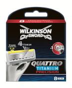 Wilkinson Sword Quattro Titanium Precision Razor Blades - Pack of 8