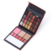 Allwon Professional Makeup Kit Matte Eyeshadow Palette Lip Gloss Blush Concealer, 33 Colours