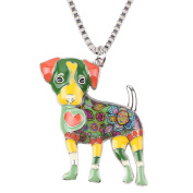 "BONSNY Signature collection ""SCRUFFY "" Jack Russell Terrier DOG Statement Pendant Necklace RRP 45.99"