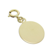9ct Gold Engravable Oval Clip on Charm