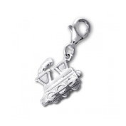 Silver Train Charm with Lobster