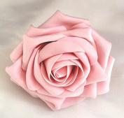 Vintage Pink Open Rose Artificial Hair Flower Clip Buttonhole Corsage by Fabulous Fascinators