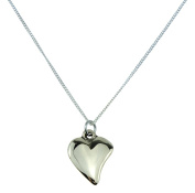 Bronze Off-shaped 8th Year Anniversary Solid Bronze Heart Necklace