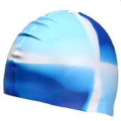 UKEE Silicone Swimming Cap 3D Silicone Design, Odourless, Non-Toxic, Silicone Elastic and Durable Swimming Cap For Adults and Men and Adults - Keep Hair Clean and Dry