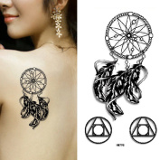 MIMAN Dream Catcher Body Art Temporary Tattoo Removable Waterproof Sticker 1 Sheet