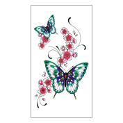 Arich 5 Sheets Non-toxic Arm Tattoo Sticker Fashion Body Waterproof Removable Art Stickers-Butterfly