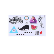 Arich 5 Sheets Waterproof Temporary 3D Tattoo Combination Fake Arm Body Art Sticker Removable X-106