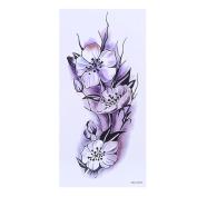 Arich 5 Sheets Waterproof Temporary Tattoos 3D Flower Halloween Fake Sticker Arm Body Art Decal-Peach Blossom 2#