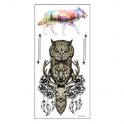 Arich Waterproof Temporary Tattoos -5 Sheets Animal World Pattern Totem - Body Art Tattoo Sticker for Halloween Christmas