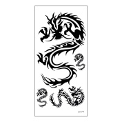 Arich Waterproof Temporary Tattoos -5 Sheets 3D Tiger Dragon Tattoo Temporary Sticker - Waterproof Puzzle Body Art Totem for Halloween Christmas