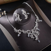 Missgrace Fashion Charm Rhinestone Crystal Necklace Earrings Wedding Bridal Prom Jewellery