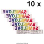 10 x SAMELOVE Rainbow Tattoo - lettering, LGBT, Gay