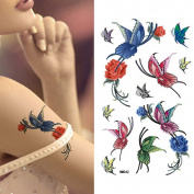 MIMAN 5 Sheets Small Butterfly Sexy Body Tattoo Sticker for Women & Girl Fake Tattoo …