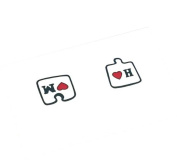 3Pcs Couples Tattoo Stickers Colour Love Puzzle Tattoo Stickers