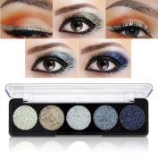 Glitter Powder Makeup Palette,Vodisa Pressed Glitter Eyeshadow Palette Long-Lasting Metallic Shimmer Eye shadow Pallet Eyes Makeup Glitter Highly Pigmented Mineral Pressed Glitter Cosmetic Makeup