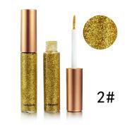 Fullfun Metallic Smoky Eyes Eyeshadow Makeup Waterproof Glitter Liquid Eyeliner 10 Colours