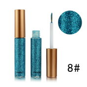 Quartly Women Metallic Shiny Smoky Eyes Eyeshadow Waterproof Glitter Liquid Eyeliner
