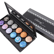 Healthcom 12 Colours Eyeshadow Pro Eye Shadow Palette Eyeshadow Makeup Palette