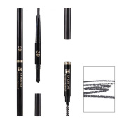 MLM 3 in 1 Eyebrow Pencil with Eyebrow Powder and Eyebrow Dye, Professional 3D Eyebrow Cosmetic Makeup Tool Water Resistant Natural and Long-lasting Brown-1