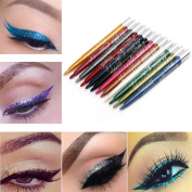Creazy Menow 12 Colours Long-lasting Eye Shadow Eyeliner Lip Liner Pen Makeup Beauty