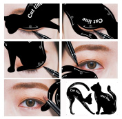 Yalasga Cat Eyeliner Stencil, Professional Multifunction Cat Shape Eye liner Stencils Template Shaper Model
